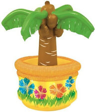 """INFLATABLE PALM TREE COOLER 26"""" (66cms) HAWAIIAN TROPICAL BEACH PARTY SUPPLIES"""