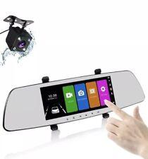 Mirror Dash Camera 7 Inch 1080P HD Screen 170 Wide Ange Dual Lens Rearview Dash