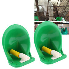 2 Pcs Livestock Sheep Automatic Drinker Bowl with Water Valve for 20mm Pipe