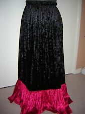 red black crush velvet skirt custom  8 10 12 14 16 18 20 22 24 26 28 30 32 34 36