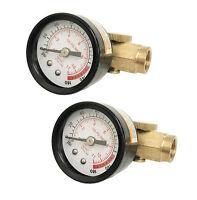 "2 PACK 1/4"" In Line Air Regulator w/ Pressure Gauge HVLP Paint Gun Tool Control"