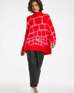 Religion alpaca blend jumper favour knitted turtleneck red sweater, Size 10 bnwt