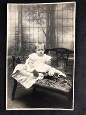 Vintage RPPC: Anonymous Child: #B177: Baby: Walsall Birmingham Studio