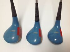 VINTAGE TITLEIST WOOD SET DRIVER 3 WOOD 5 WOOD MODEL 90 RH LITE SENIOR FLEX   rz