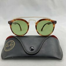 Vintage Ray Ban W0933 Gold/Tortoise Shell Gatsby Style 4 Sunglasses And Case