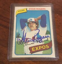 STEVE ROGERS - SIGNED - 1980 O-PEE-CHEE #271 CARD *AUTOGRAPHED* MONTREAL EXPOS