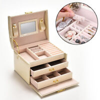 Large Jewellery Box Cabinet Necklace Armoire Birthday Gift Organizer Bracelet