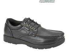 Boys School Shoes US Brass Lace-up Black Smart Sturdy Size 1 - 6 UK