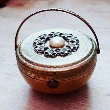 Vintage 1950's Kigu Basket 'Bouquet' Powder Compact
