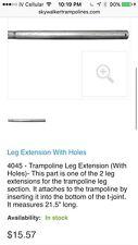 Leg Extension Skywalker Trampoline  12'  SWJD12P NEW Oem Part