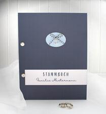 Stammbuch mit Namen dunkelblau mit Anker 12021, A5, zum kleinen Preis!!
