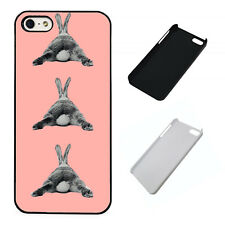 Bunny laying pattern coral plastic phone Case Fits iPhone