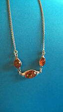 Collier en Argent Massif 925 & Ambre / Sterling & Amber Necklace