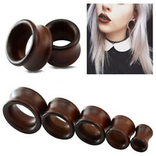 8-20mm Wooden Ear Plugs and Tunnels Earrings Stretcher Expander Body Piercing