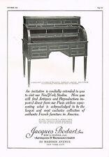 1920's BIG VINTAGE Jacques Bodart New York Antique Furniture Photo Print AD