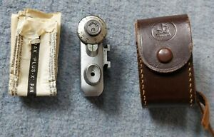 Watameter Entfernungsmesser Rangefinder Aufstecksucher Kamera+ Lederetui+Anleitu