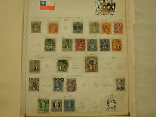 Chile 1865-1938 mostly used Stamp Collection