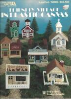 Friendly Village in Plastic Canvas Leisure Arts 1286 Homes Cottages Church 1990