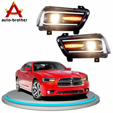 LED Headlights For 2011-2014 Dodge Charger Sequential Turn Indicator 2015 Model