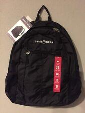 SwissGear Daypack Backpack, Black with Tablet Pocket