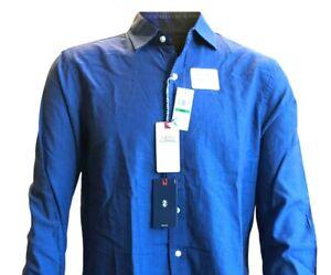 IZOD Mens Long Sleeve Casual Shirt - Saltwater - Peacoat Blue - Large