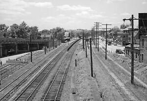 "1940 Railroad Tracks Through Hyattsville, Maryland Old Photo 13"" x 19"" Reprint"