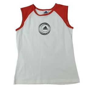 Vintage Adidas Raglan Tank Top Kids Youth Size XL Sleeveless Athletic Shirt 90s