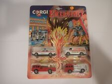 Vintage Corgi Emergency w/ Erf Fire Tnder, Simon Snorkel, Police Car & Paramedic
