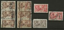 Great Britain Seahorse Lot Used Stamps And Strips As Shown