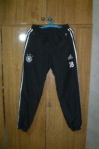 Germany Team Adidas Football Sports Pants 2014/2015 #18 Black Soccer Men Size S