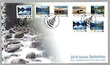 New Zealand 2010 FDC New Zealand Landscape Defins - 5 Ordinary & 2 Self-Adhesive