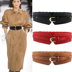 Womens Waistband  Belt Wide Leather Fashion Elastic  Stretch Corset Cinch