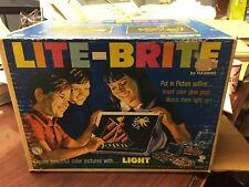 1967 Hasbro Lite Brite with Refill sheets and pegs with box Works
