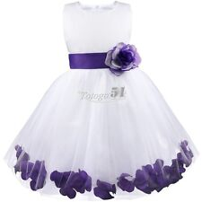 Flower Girls Dress Wedding Bridesmaid Formal Party Pageant Recital Graduation 8