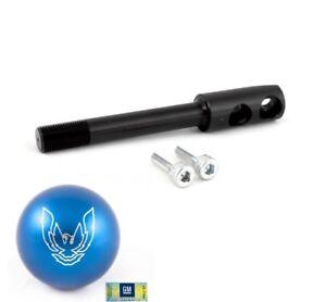 82-02 Trans Am Blue Phoenix Bird Shift Knob w/ Black Short Throw Shifter Stick