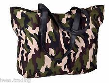 Damen Handtasche Schultertasche Shopper in Camouflage Army Muster 50x30 cm