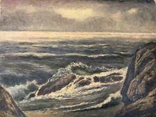 Marine mer peinture à l'huile sur carton vers 1905 qualité anonyme