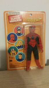 VINTAGE MOC 1979 SPIDER-MAN 8 inch mego pin pin action figure French card