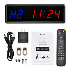 Large Programmable Gym Interval Timer Fitness Stopwatch Mount Clock with Remote