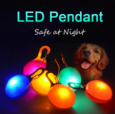 Pet Dog Cat LED Flashing Collar Tag Buckle Safety Night Light Pendant US STOCK