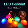 Pet Dog Cat LED Flashing Collar Tag Buckle Safety Night Light Pendant US STOCK