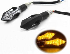 2x Universal Motorcycle Turn Signal Light AMBER Indicator For Harley Davidson