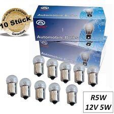 10er Set R5W Kugellampe BA15s 12V 5W Birne Glühbirne Signal Licht StopLeuchte