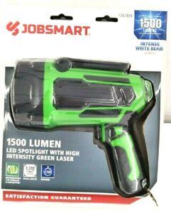 Jobsmart LED Spotlight With High Intensity Green Laser 1500 Lumen Rechargeable