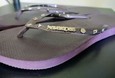 Havaianas Purple Metal Studded Flip Flops, Size 7/8... Great Condition!