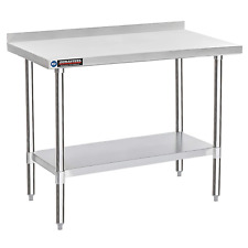 Stainless Steel Kitchen Work Table Durasteel Commercial Food Prep 24 X 48 Wo