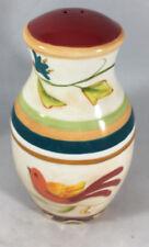 Global Market Accessories Salt Shaker 2 Holes Red Fitz Floyd Floral Bird 314953