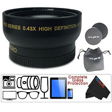 I3ePro 58mm 0.43X Wide angle Lens For Canon 18-55mm 75-300mm 55-250mm 50mm 1.4