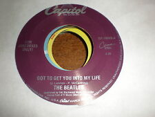 The Beatles 45 Got To Get You Into My Life GOLD VINYL CAPITOL