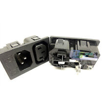 Black AC 250V 10A Panel Mount IEC 320 C13 C14 Inlet Power Socket Supply NEW